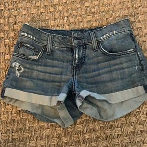 Juicy Couture distressed Jean shorts